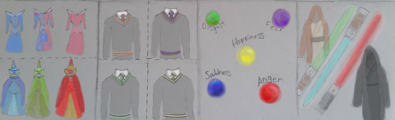 How to Analyze and Recreate a Character Based Outfit 2 Color Schemes Colored