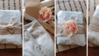 Poshmark @BehindTheCloth Light Gray Crop Cardigan Delicate Pink Packaging Collage 2