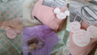 Poshmark @BehindTheCloth Sweet Mickey and Stitch and Pink Hoodie Packaging Collage