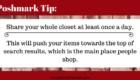 Poshmark Tip Closet Shares