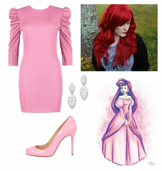 Ariel Pink Dress Reinterpretation on Polyvore by A-Random-Fandom