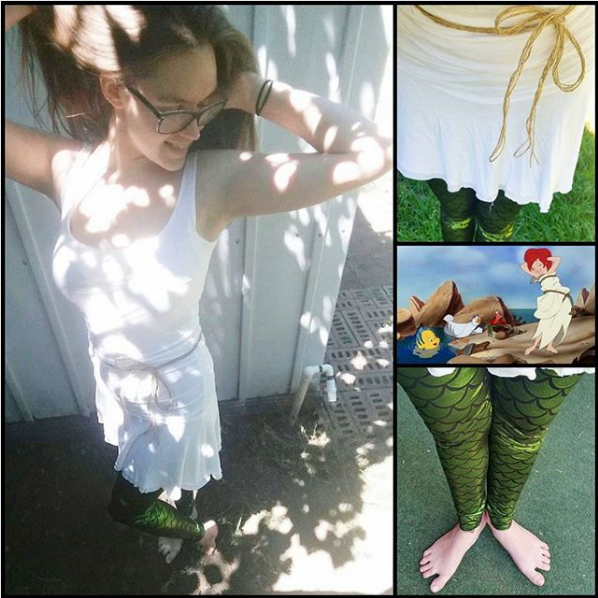 Ariel Sail Dress Re-Interpretation on Instagram by StoryBehindTheCloth