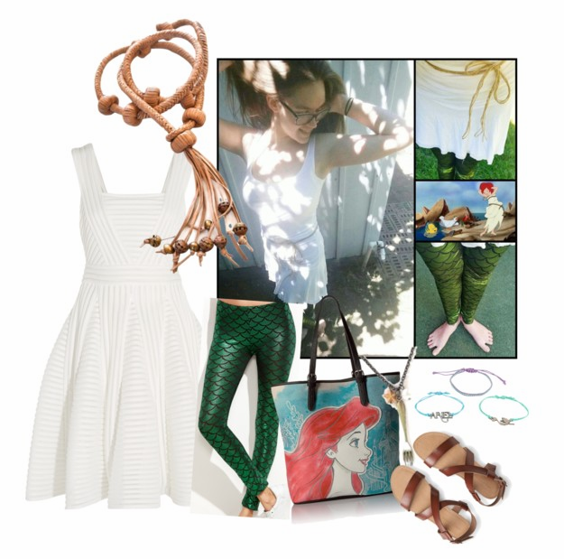 Ariel Sail Dress Re-Interpretation on Polyvore by StoryBehindTheCloth