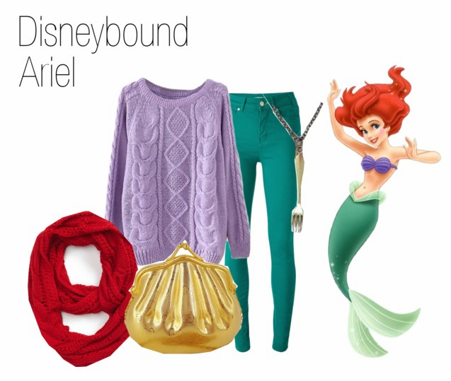 Ariel Warm Casual DisneyBound on Polyvore by HeyleeBeth