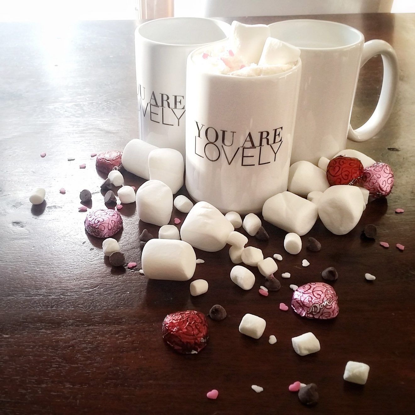 You Are Lovely Coffee Mugs from Thavin   Marcob Fashion Self Love giveaway hot chocolate set