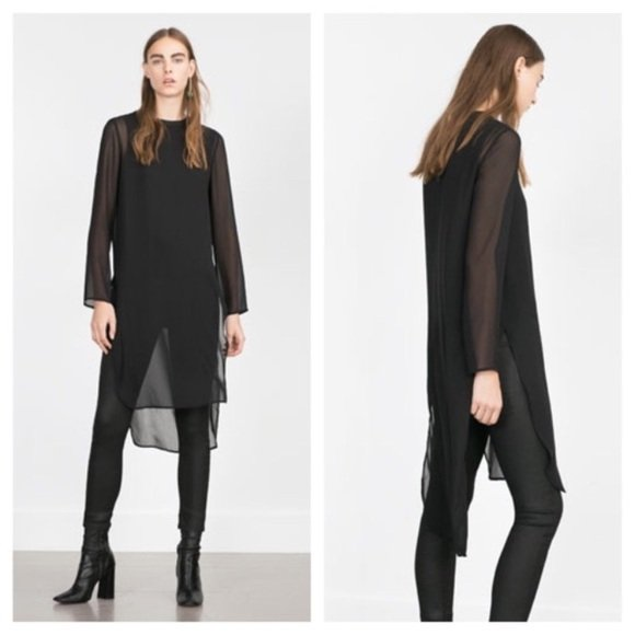 Zara Trendy Bold Strong Feminine Black Sheer Top Survive Break Up Self care Embracing the New hot trends