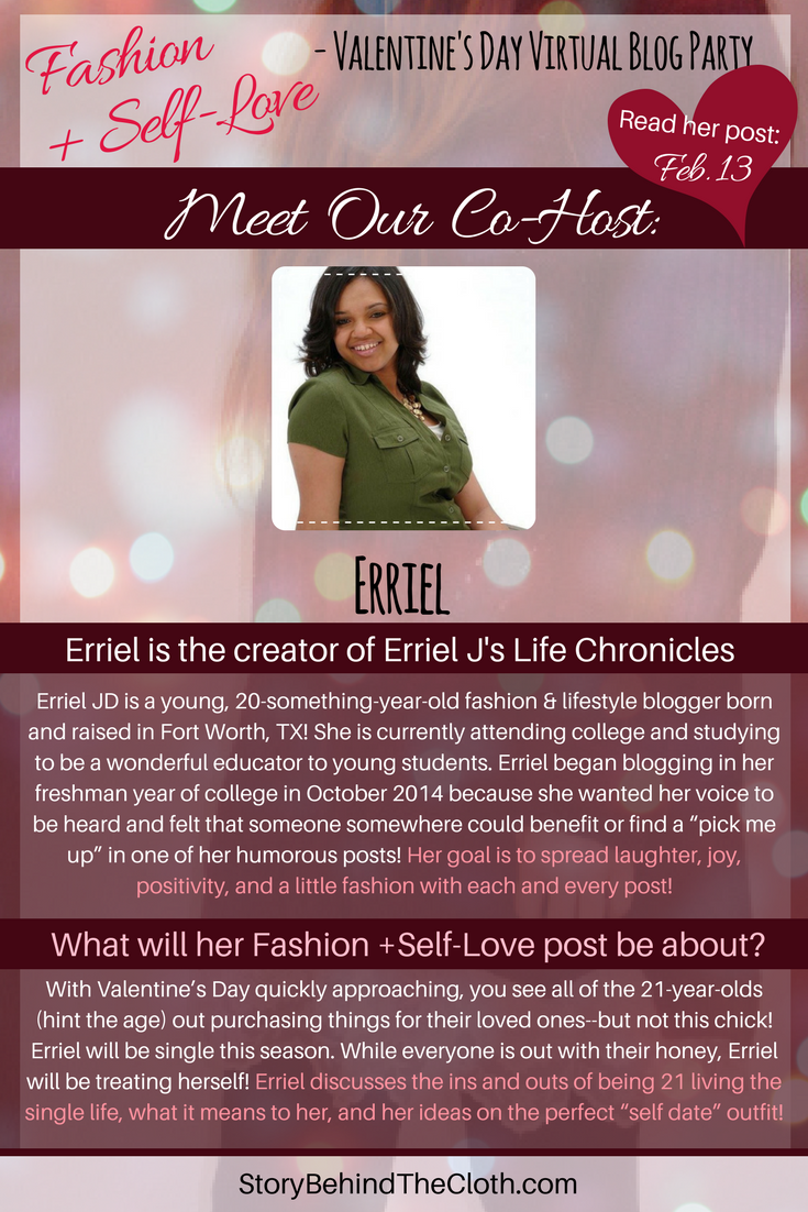 13. Introducing Our Co Host Erriel Fashion Self Love Valentines Day Blog Party.