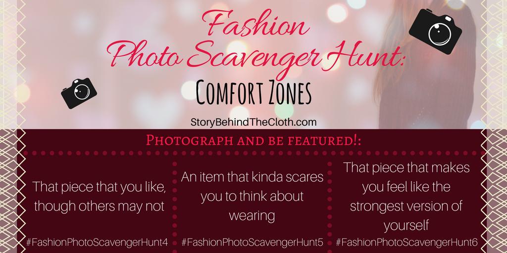 2. Fashion Photo Scavenger Hunt Comfort Zones