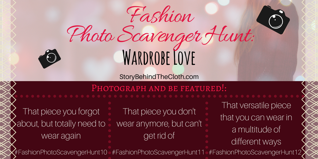 Fashion Photo Scavenger Hunt – Fourth Round: Wardrobe Love – #FashionSelfLoveParty Game