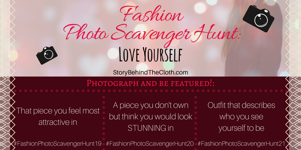 Fashion Photo Scavenger Hunt – Seventh Round: Love Yourself – #FashionSelfLoveParty Game
