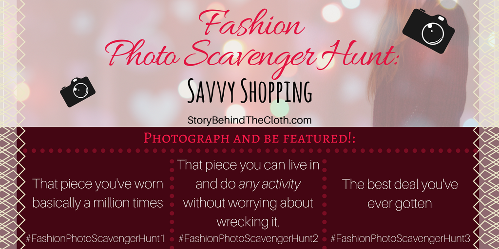 Fashion Photo Scavenger Hunt – First Round: Savvy Shopping – #FashionSelfLoveParty Game