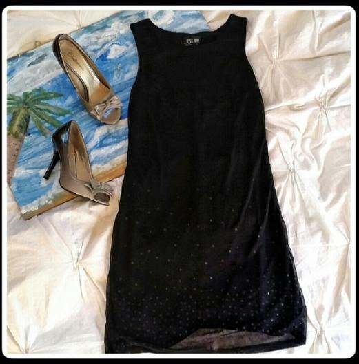 Sparkled Little Black Dress