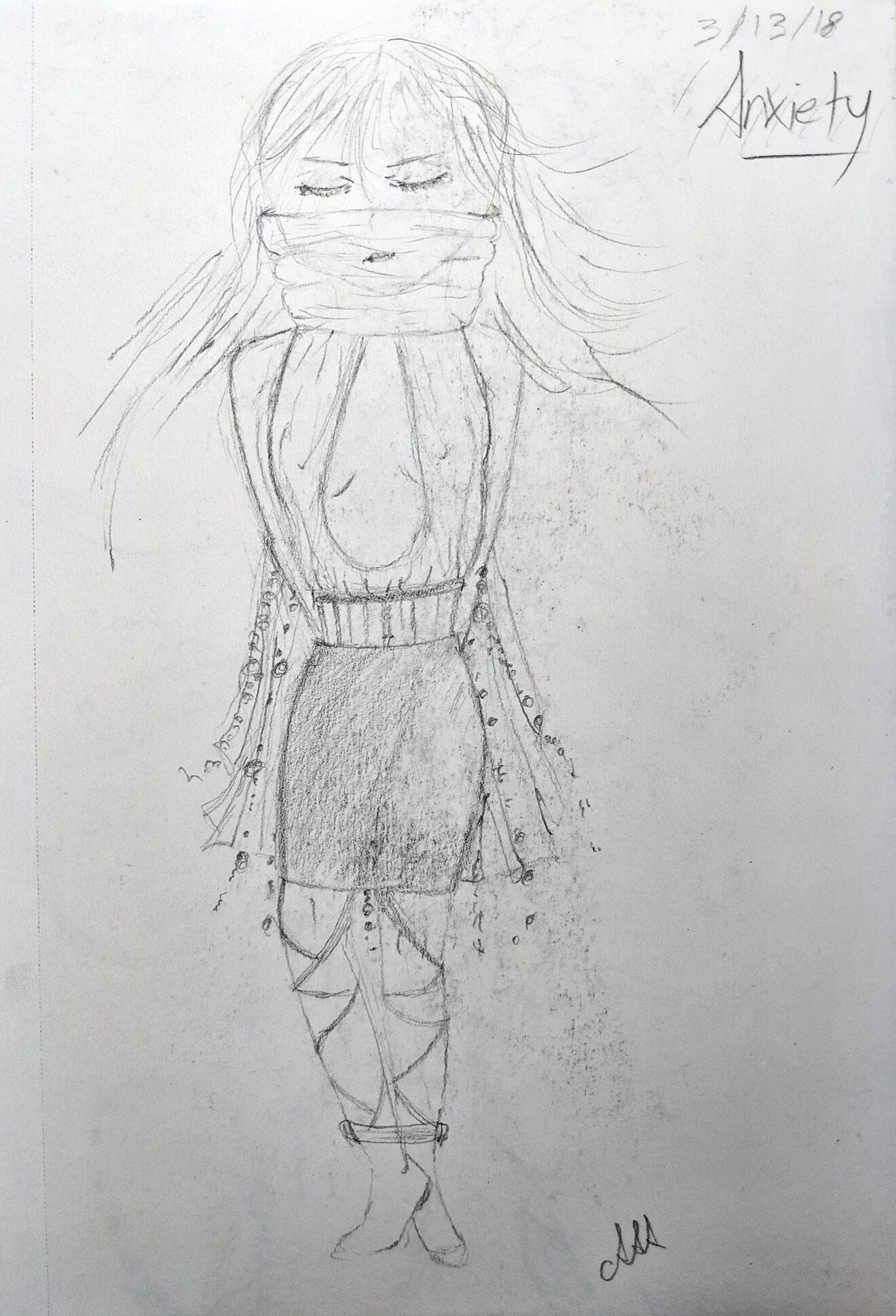 Sketches of Anxiousness – My Anxiety Inspired Conceptual Fashion Collection 2 Social Anxiety Disorder
