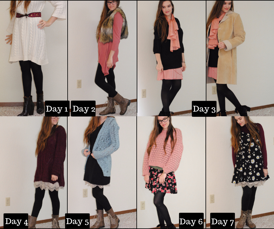 Dressing Up With Nowhere to Go 7 Day Challenge