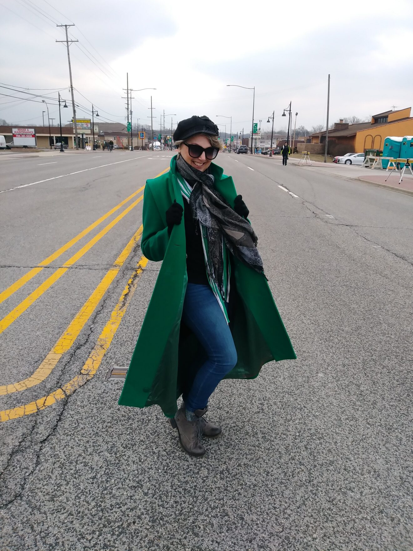 Style Story Interview Reckless Resale Designer Gwen Bielicki Urban Street Fashion Long Emerald Green Trench Coat Story Behind The Cloth e1560470668694