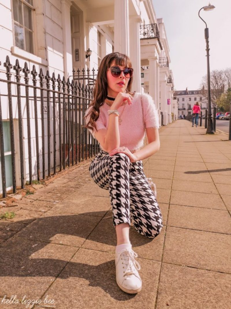 Gyaru Chameleon A Style Story Interview with Lizzie Bee Story Behind The Cloth houndstooth outfit inspo by hellolizziebee