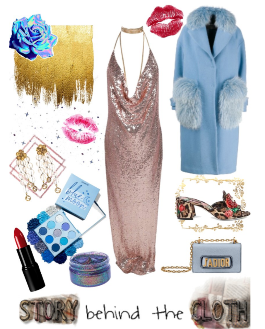 Combyne Polyvore Style Fashion Style Collage Love You to the Moon and Back Romantic Glamorous Outfit