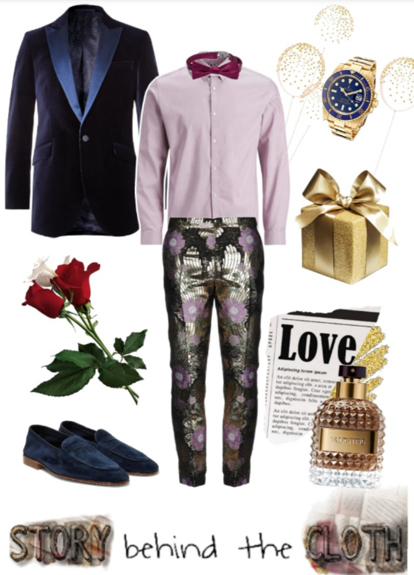 Combyne Polyvore Style Fashion Style Collage Rich in Love Romantic Glamorous Menswear Outfit