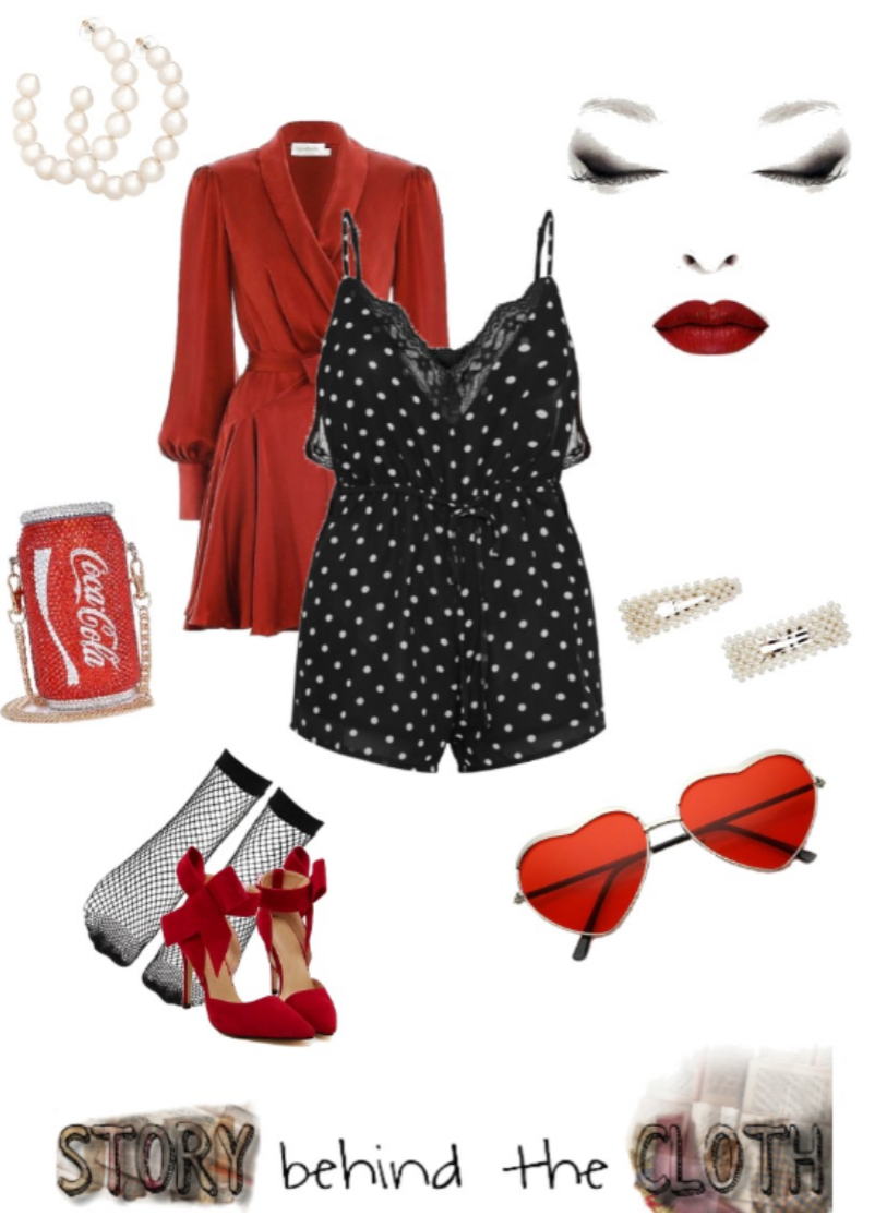 Combyne Polyvore Style Fashion Style Collage Sassy Edgy Headstrong Flirty Retro Vintage Outfit