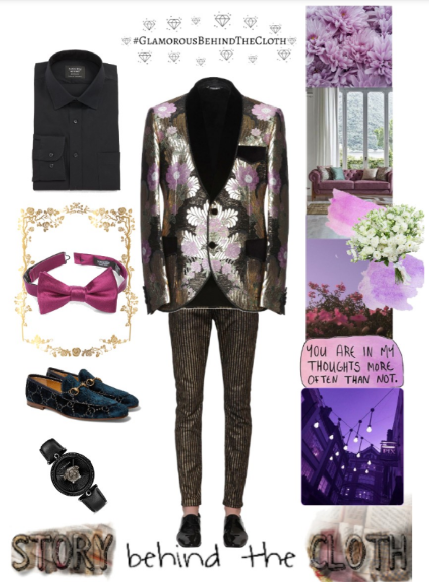 Combyne Polyvore Style Fashion Style Collage Thought of Grandeur Romantic Luxurious Sensual Glamorous Menswear Outfit