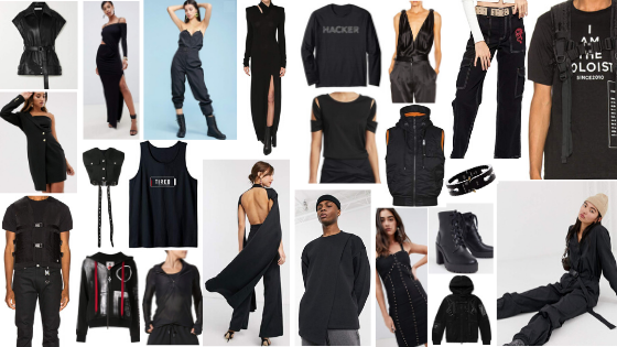 Kick Ass Style Guide Bold Mysterious Versatile Powerful Confident Moody Dystopian Black Colors
