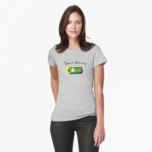 redbubble social distancing grey fitted t shirt