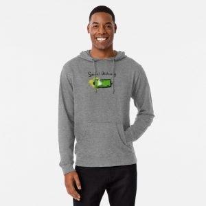 redbubble social distancing grey lightweight hoodie