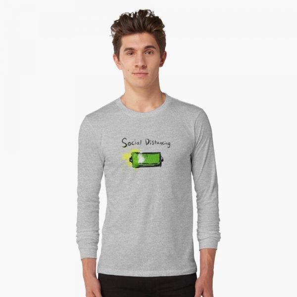 redbubble social distancing grey long sleeve t shirt