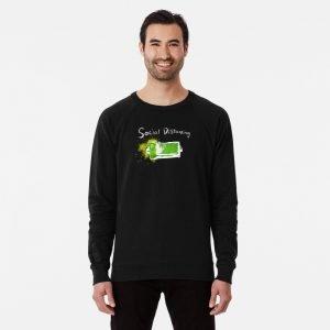 redbubble social distancing lightweight sweatshirt