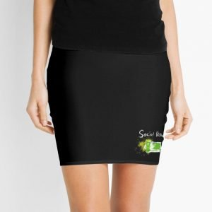 redbubble social distancing mini skirt