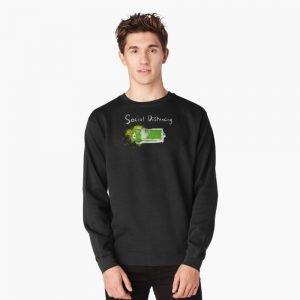 redbubble social distancing pullover sweatshirt