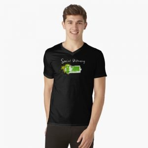 redbubble social distancing v neck t shirt