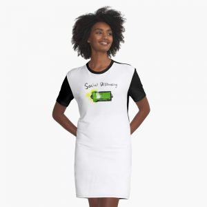 redbubble social distancing white graphic t shirt dress
