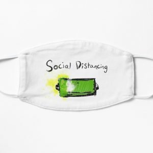 redbubble social distancing white mask