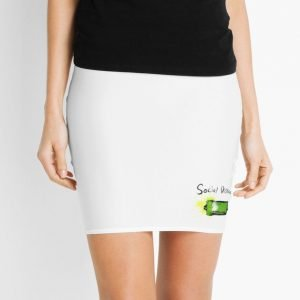 redbubble social distancing white mini skirt