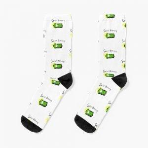 redbubble social distancing white socks