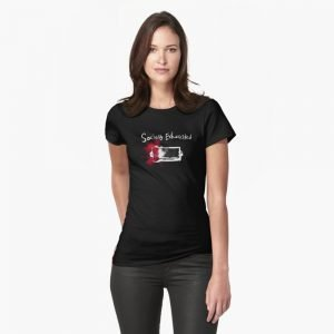 redbubble socially exhausted fitted t shirt