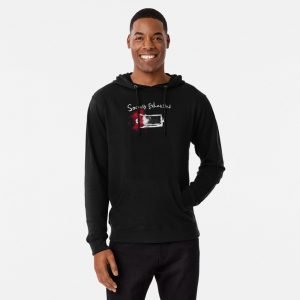 redbubble socially exhausted lightweight hoodie