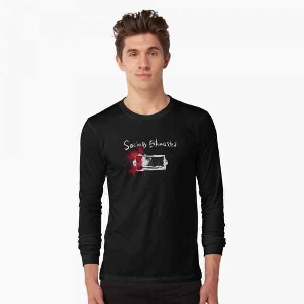 redbubble socially exhausted long sleeve t shirt