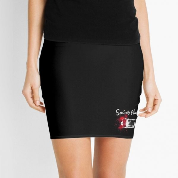 redbubble socially exhausted mini skirt