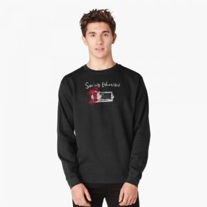 redbubble socially exhausted pullover sweatshirt