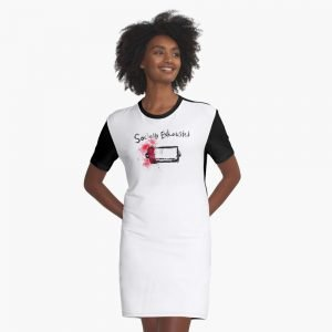 redbubble socially exhausted white graphic t shirt dress