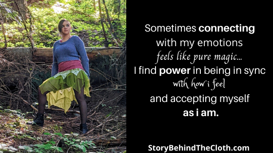The Power and Magic of Connecting with Emotion Alissa Ackerman Story Behind The Cloth fashion blog whimsical witchy fairy outfit Quote