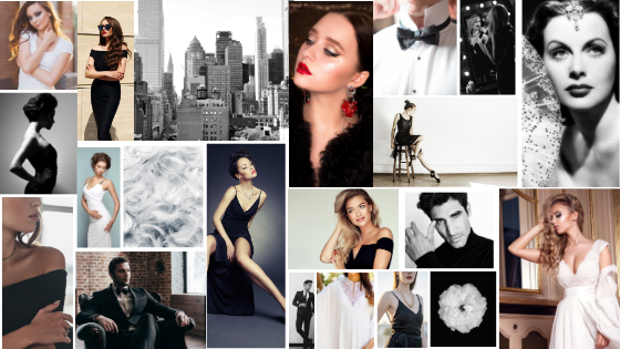 Glamorous Style Guide Simple Chic Elegant Black and White 1