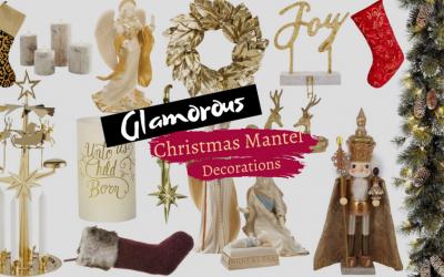 Glamorous Christmas Mantel Pieces and Stockings