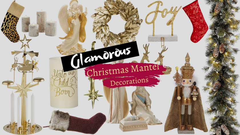 Glamorous Christmas Mantel Decorations and Stockings