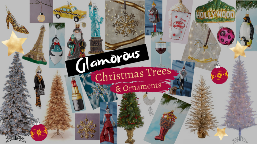 Glamorous Christmas Trees and Ornaments Decorations
